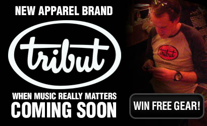 New apparel brand Tribut coming soon. When music really matters. Get notified